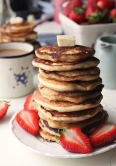 Old Fashioned Buttermilk Pancakes: hands down the fluffiest, thickest, most delicious pancakes you'll ever make!