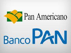 Logotipos antigo e novo do Banco Pan
