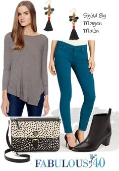 Asymetrical tops look great with leggings. Check out the post on Fabulous After 40 for style recipes.