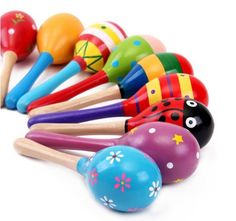 Large sand hammer Mobile baby wooden rattles toy hammer wood color baby education toys