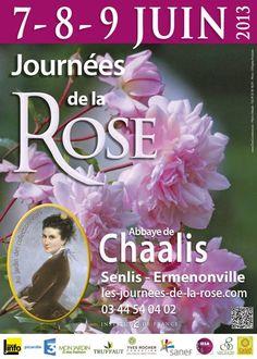 Les Journées de la rose 2013, les 7, 8 et 9 juin à labbaye de Chaalis