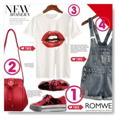 """""""Romwe!"""" by adanes ❤ liked on Polyvore featuring Lipsy, romwe and polyvoreeditorial"""