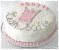 K&KHome: Rosa barndåp. Med oppskrift. Birthday Cake, Desserts, Food, Tailgate Desserts, Birthday Cakes, Meal, Dessert, Eten, Meals