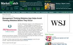 Market Watch from the Wall Street Journal reports on the new Swiss management dilemma app