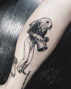 Tattoo Ideas Shy rabbit may just seem so … Courage and wisdom is necessary to survive in a world full of predators!Shy rabbit may just seem so … Courage and wisdom is necessary to survive in a world full of predators! Body Art Tattoos, Tattoo Drawings, Cool Tattoos, Tatoos, First Tattoo, Big Tattoo, Small Tattoo, Tatuagem Em Latin, Zealand Tattoo