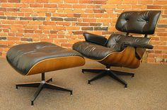 Herman Miller Eames Lounge Chair & Ottoman Rosewood Mid Century Vintage 670 671