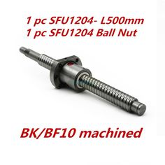 Free Shipping 1 pc 12mm 1204 Ball screw SFU1204 length 500mm plus 1pc RM1204 Ball nut CNC parts BK/BF10 end machined //Price: $31.00//     #shop