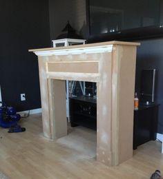 Kaminumrandung  Selber Bauen Dekokamin Anleitung Konstruktion Holz Holzplatten