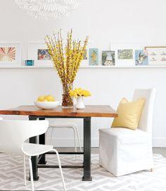 Interior Inspiration from Canada ♥ Интериорно вдъхновение от Канада | 79 Ideas-love the single long picture ledge
