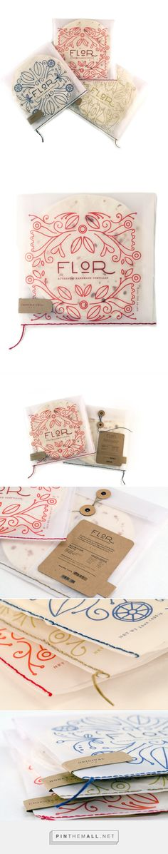 Flor: Tortilla Packaging (Student project) by Triana Thompson. Pin curated by (cookie ideas packaging) Soap Packaging, Pretty Packaging, Brand Packaging, Graphisches Design, Label Design, Food Design, Package Design, Design Trends, Creative Design