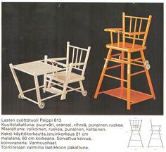 Niemen tehtaat, Finland. Vintage syöttötuoli, klassikko.