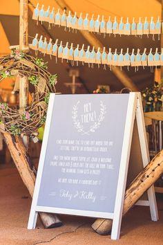 Rustic Unintentional Americana Tipi Wedding Peg Luggage Tag Seating Plan Escort Cards http://www.georgimabee.com/