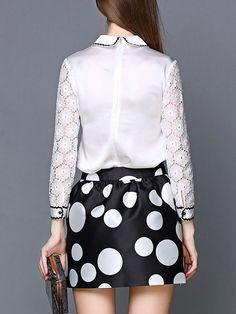 Paneled Blouse and Mini Skirts