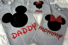 Mickey and Minnie T-shirts Disney Trip Family Set by RjsworldTees