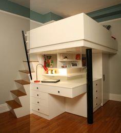 lit surélevé, design unique