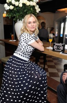 Diane Kruger at W's It Girl luncheon