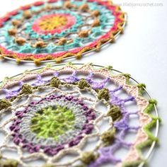 Spirit Mandala wall hanging - FREE crochet pattern by www.lillabjorncrochet.com