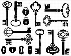 skeleton keys vector - Google Search