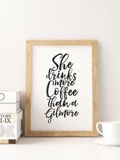 BUT FIRST COFFEEShe Drinks More Coffee Than A by TypoHouse on Etsy
