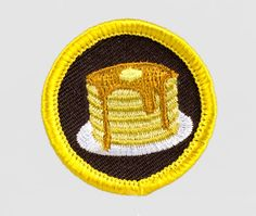 Pancake Breakfast merit badge *heck yes! Parks N Rec, Parks And Recreation, Stephanie Brown, The Dark Artifices, Merit Badge, Pin And Patches, Jacket Patches, Cute Pins, Stickers