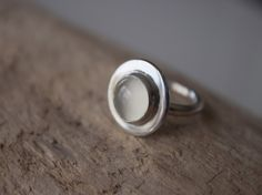 Simple Talisman - moonstone silver ring made from recycled sterling silver. Moonstone is a semi precious stone of protection. Diamond Gemstone, Gemstone Rings, Simple Solitaire, How To Make Rings, Three Stone Rings, Moonstone Ring, Sterling Silver Rings, Silver Earrings, Gemstones