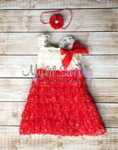 2 PC set Red ivory lace dress and headband by MyLilSweetieBoutique- special occasion dress- holiday dress- christmas dress- red dress- baby dress - girl dress #mylilsweetieboutique #etsy #holidaydress #specialoccasion #holidayoutfit #christmasdress #babiesfirstchristmas #firstchristmasoutfit #lacedress #headband #hairclip #hairbow #babygirl #girldress #lace #lacedress