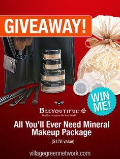 Giveaway: Beeyoutiful Mineral Makeup Set — $128 Value Beauty Tips, Beauty Hacks, Albion Fit, Makeup Package, Blog Love, Makeup Set, Natural Health, Giveaways, Sensitive Skin