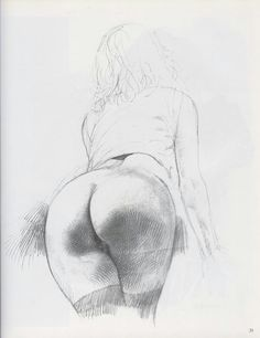 Female drawing nude charcoal