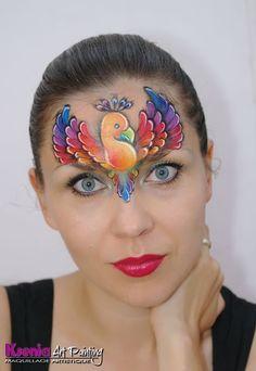 Ksenia Art Painting || rainbow bird, Ksenia's paintings are all beautiful! She is a rising star!!