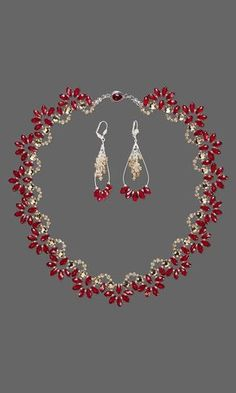 Jewelry Design - Single-Strand Necklace and Earring Set with Swarovski Crystal and Silver-Plated Brass Findings - Fire Mountain Gems and Beads