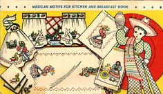 1950s Hand Embroidery PATTERN 717 for Cinco de Mayo a Mexican