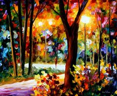 Leonid Afremov: His paintings are beautiful. I wonder if they are as BRIGHT in person.