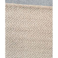 Herringbone weave wool rug 2 x by Armadillo & Co - granite/ecru