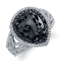 Black Engagement Rings With Diamond For Women 36
