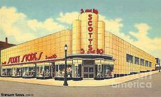 Scotts Five and Dime Store Akron Ohio .   Was on the Corner of South main Street and State Street.  around 1940  by dwight goss.   I liked the lunches there!