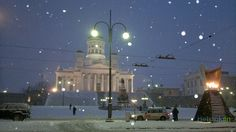 The first snow, Helsinki Cathedral, Finland Dream Life, My Dream, Near Future, First Snow, Helsinki, Iceland, Denmark, Norway, Sweden