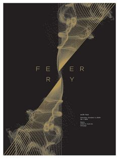 Fever Ray concert poster at the Metro- Chicago Oct 2009 hand made 2 color silkscreen print poster measures 18 inches x 24 inches signed and numbered edition of 200 artist: Jason Munn