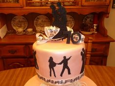ballroom dance cake | ... On Top -- Cakes for Every Occasion: Ballroom Dancer Birthday Cake