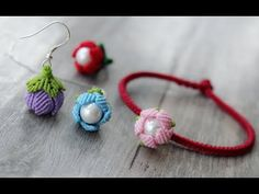 Macrame Earrings, Macrame Jewelry, Macrame Bracelets, Crochet Earrings, Flower Earrings, Macrame Knots, Micro Macrame, Earrings Handmade, Handmade Jewelry