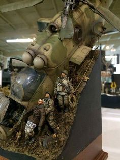 Greg Cihlar's simply brilliant downed Hind gunship diorama Everyone has seen and pinned this but I don't think I saw it credited to a modeler before.