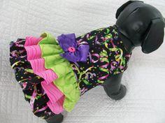 Mardi Gras Dog Dress with Harness  Custom Made by graciespawprints, $25.95