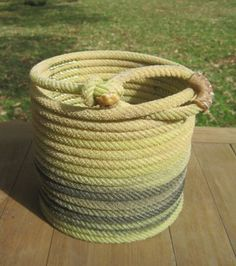 Lariat Rope Basket the color of Spring!