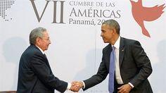 Los presidentes de Cuba y Estados Unidos, Raúl Castro  y Barack Obama.