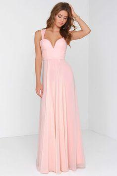 Lovely Peach Dress - Sweetheart Dress - Maxi Dress - Bridesmaid Dress - $228.00