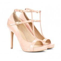 Open toe T-strap heels - Malia