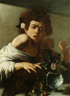 Menino mordido por um lagarto - Caravaggio, 1595