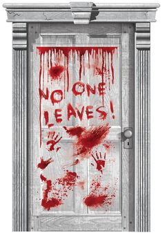 Dripping Blood Door Cover 33 1/2in x 65in - Asylum - Party City ...