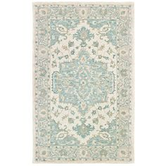 Turquoise Modern Traditions Area Rug 5x8 Area Rugs
