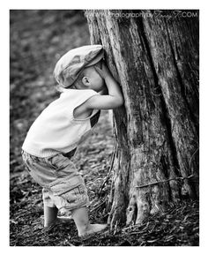 "Hide-N-Seek  ......all we had to play with was ""outside""!"