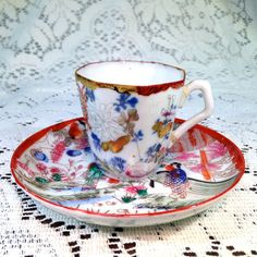 Vintage Japanese Tea Cup and Saucer by LaurasTeaParty